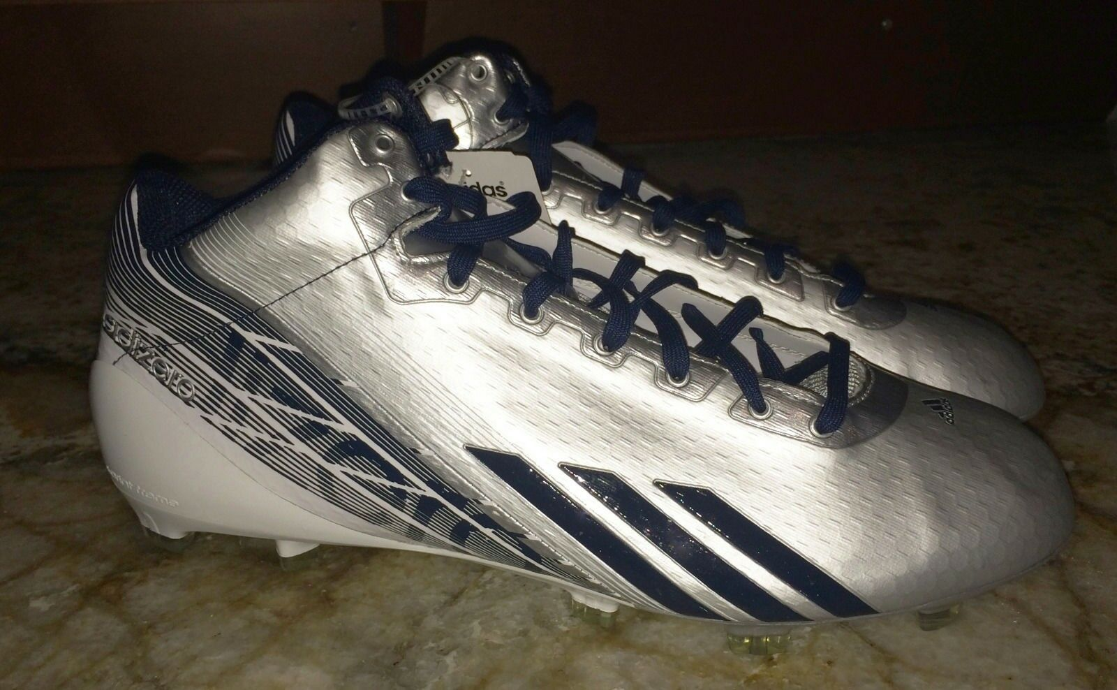 ADIDAS Adizero 5 Star 3 4 2.0 2.0 2.0 Silver Navy Whi Molded Football Cleats NEW Mens 13 95acfa