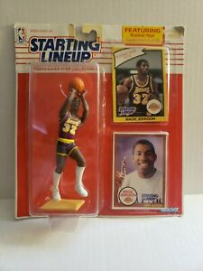 1990-STARTING LINEUP MAGIC JOHNSON FIGURE-with ROOKIE CARD INSERT new Sealed