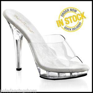 ea57efcd278 LIP-101 NEW Posing Comp Shoes Clear Heels Bikini Competition Sandals ...