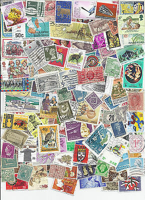 Worldwide Kiloware Collection - 120 Different Stamp Packet Off Paper - Lot SB10