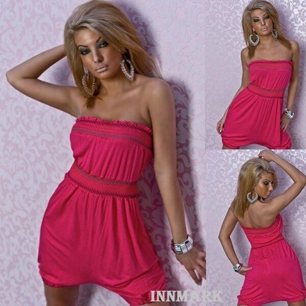 013 Sexy Estate Mini Abito In Cotone-generale-costume Da Spiaggia Rosa Online Innmark