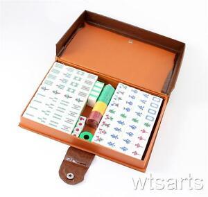 Reise Chinese Mahjong Set Grün Ma Zurück Jiang,Kantonesisch Stil,UK Verkäufer