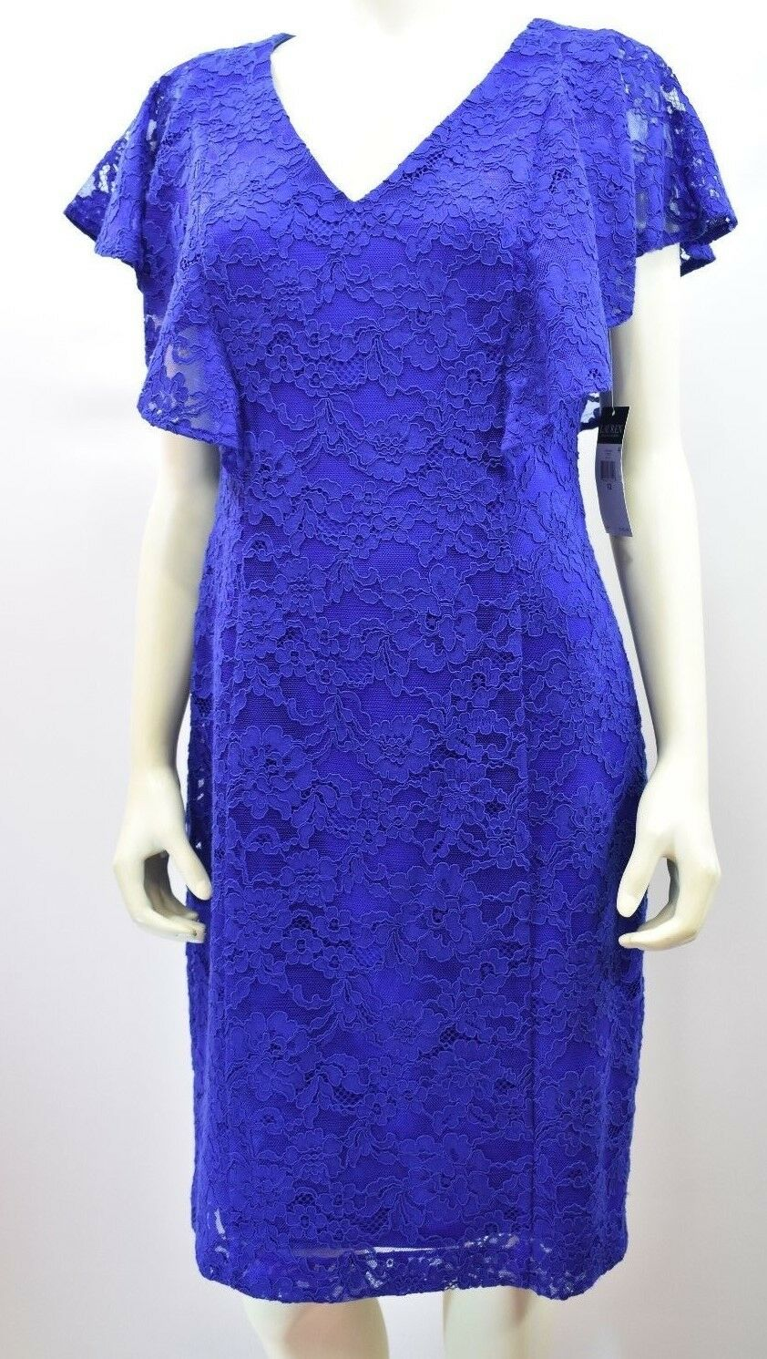 RALPH LAUREN LACE SHEATH DRESS SZ 12 NEW WITH TAG