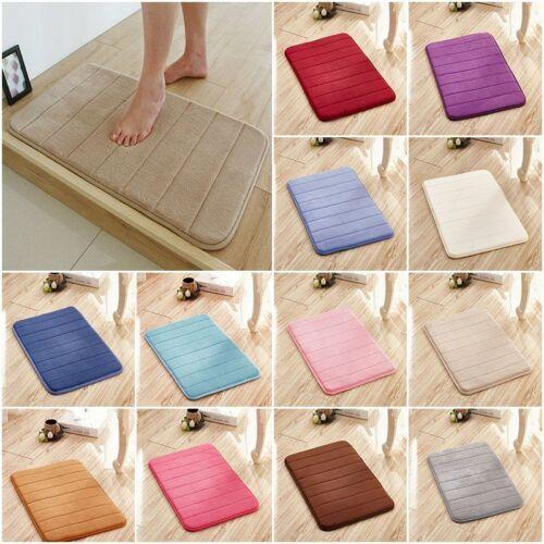 Microfibre Soft Memory Foam Bathroom Shower Bath Floor Mat With Non Slip Back UK