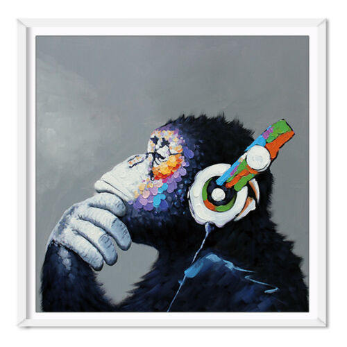 Music Orangutan Animal Print Canvas Art Poster Oil Painting Picture Wall Decor