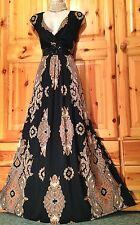 True sensacional! fabuloso vestido Maxi ocasión MONSOON barroco Adornado Talla 22