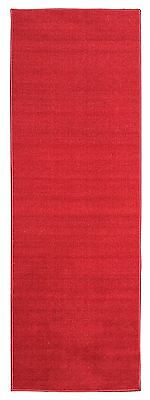 Ottohome Collection Red Carpet Aisle Runner Solid Color Hallway Runner Rug Rug