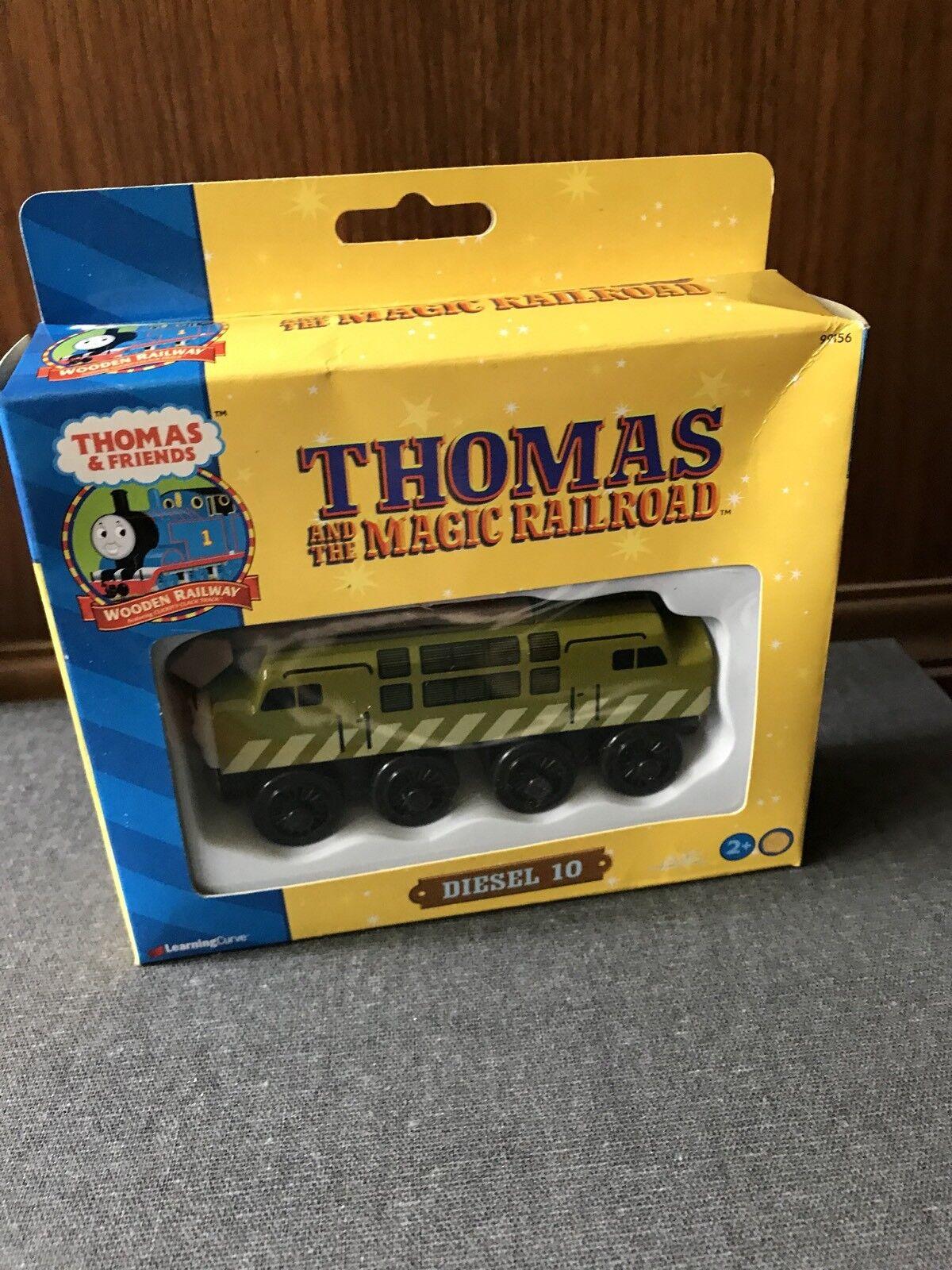 RARE Retired Thomas Wooden Railway Magic Railroad Diesel 10 New In Box
