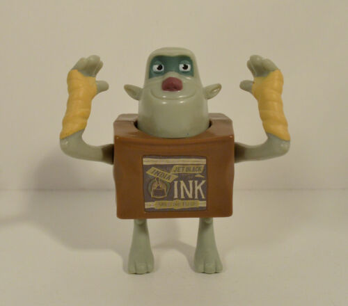 """RARE FOREIGN 2013 Ink 3.5/"""" McDonald/'s EUROPE Movie Action Figure Box Trolls"""