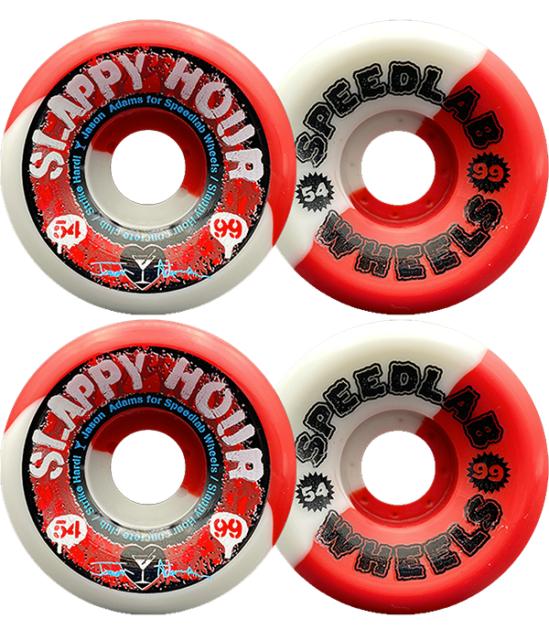 57mm 99a Spitfire Wheels Bighead Swirl White//Blue Skateboard Wheels Set of 4