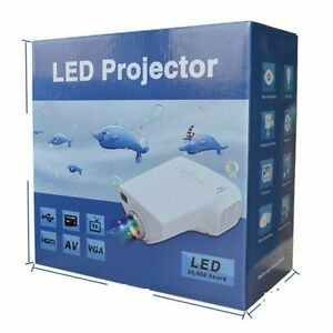 MINI 3D Projector LED for TV,DVD,PC with SD,USB,AV In VGA,HDMI,Coaxial TV NW
