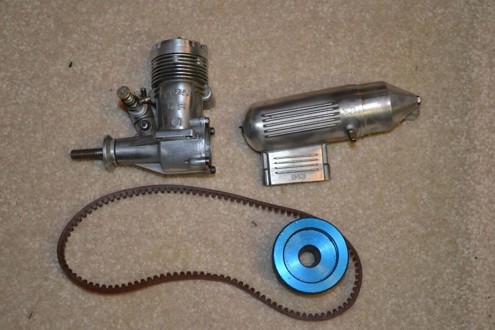Vintage Os-max-S 30 y 843 modelo de avión Motor Silenciador
