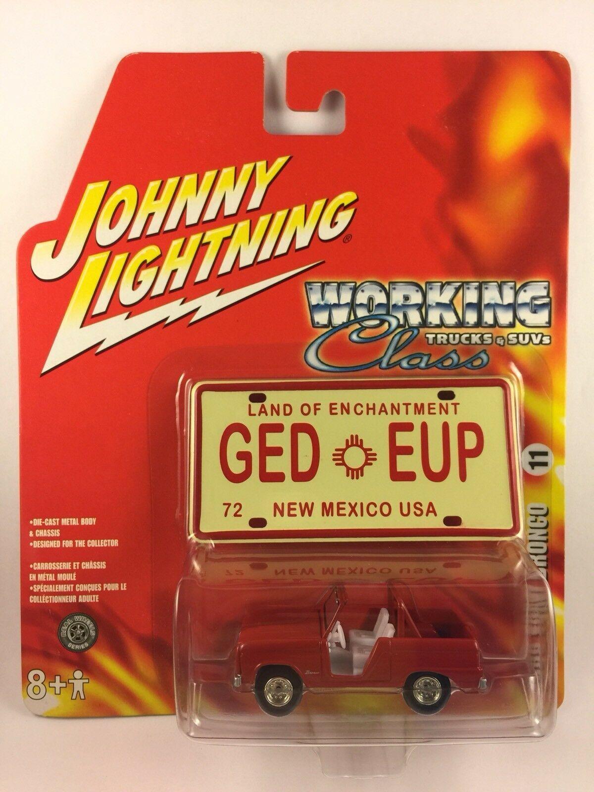 Johnny Lightning bianca Lightning 66 1966 Ford Bronco camiones de trabajo & SUV 1 64