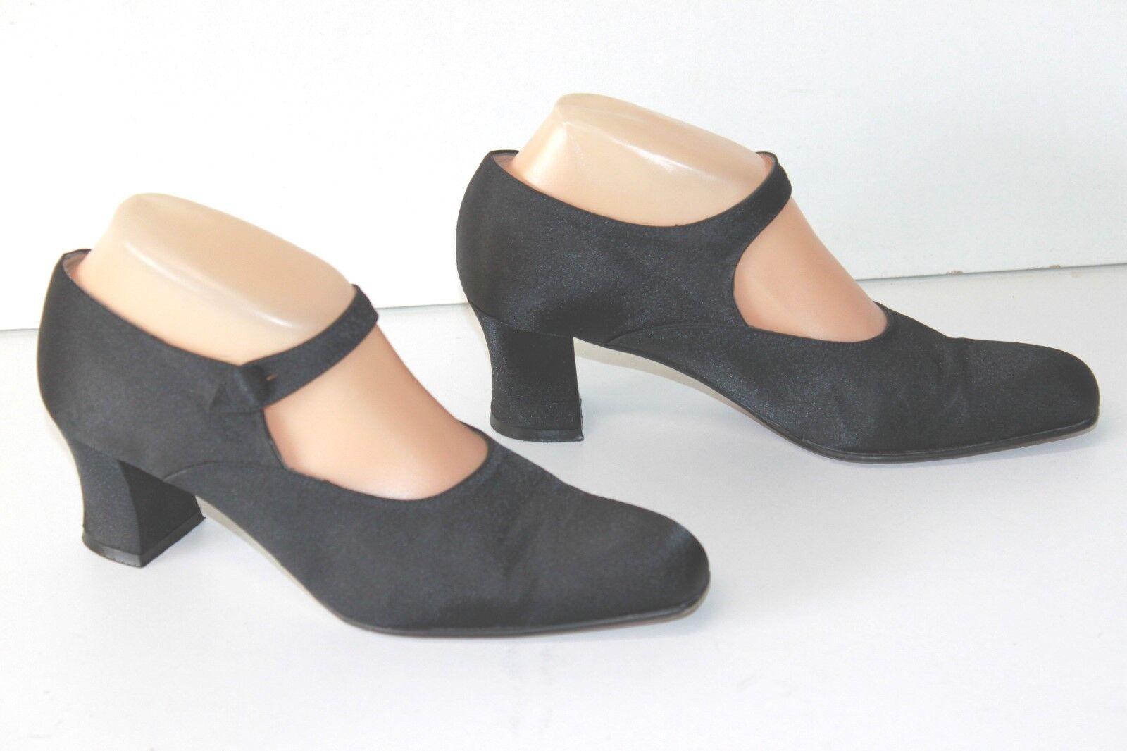 PARALLELE Court shoes Canvas Satin Black Double Leather T 5 38