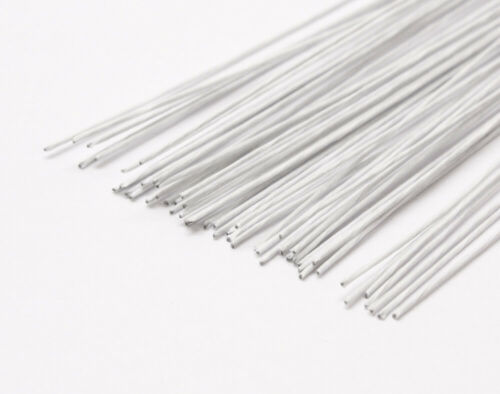 0.5-1.6mm White Tape Covered Floristry Stub Wires 50cm Long