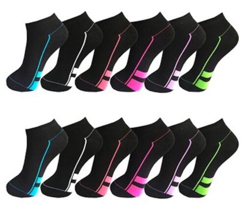 39-42 24 Paar Damen Socken Sneaker Sport Freizeit Arbeit Baumwolle 35-38 12 6