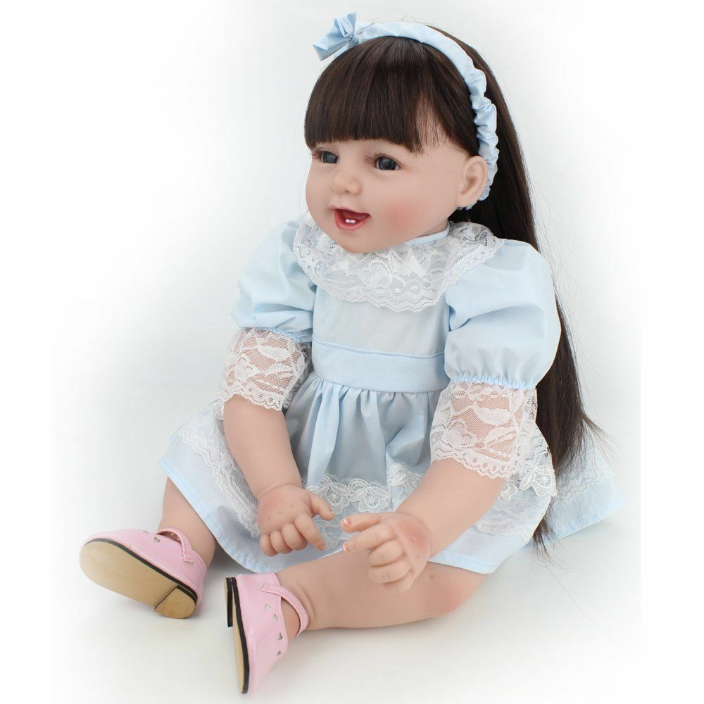 22'' Reborn baby Toddler Girl Dolls Silicone Vinyl Handmade Lifelike Newborn hot