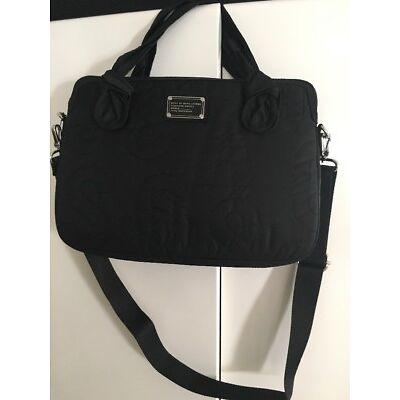 "Marc by Marc Jacobs Commuter  15"" Laptop Messenger Bag Pretty Nylon Black  NEW"
