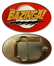 The Big Bang Theory TV Series Bazinga! Logo Enamel Metal Belt Buckle, NEW UNUSED