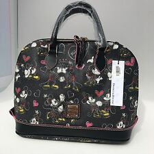 Dooney & Bourke Disney Parks Romancing Minnie Zip Zip Satchel Bag Purse NWT