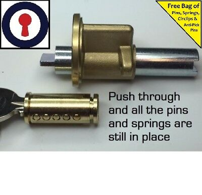Locksport tool for re-pinning shoe for 5 pin Oval cylinders 1st P/&P