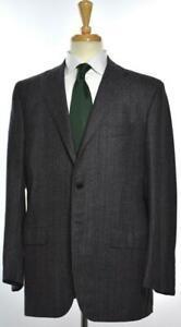 KITON Mens 3-BTN Woven Cashmere Wool Glen Plaid Suit Sz 53 EU/ 43 R US NEW $9995
