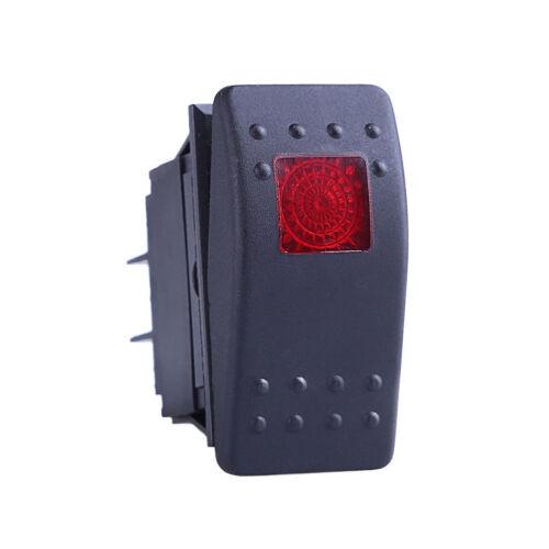 1Pcs Waterproof Marine Boat Car Rocker Switch 12V SPST ON-OFF 4PIN Red LED