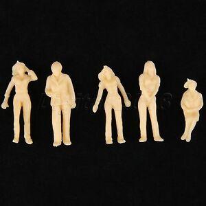 20pcs Model Train Plain People Figure Scenery Scale 1:42 Skin Colored Painted