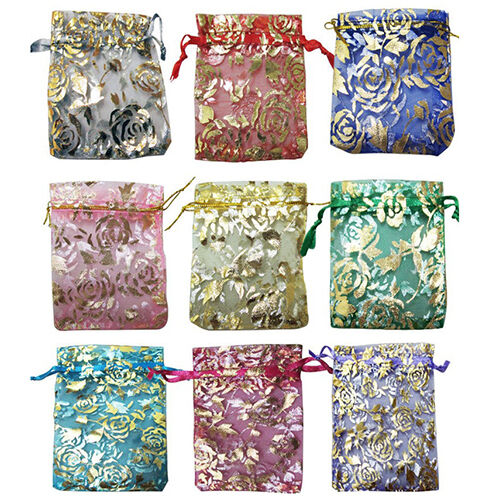 25X Hot Useful Organza Jewelry Wedding Gift Pouch Bags 7X9Cm 3X4 Inch Mix Color