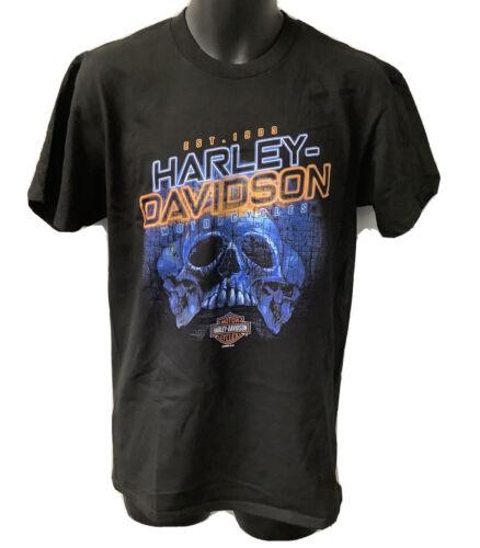 Harley Davidson Mens Powering Through Short Sleeve T-Shirt Black 5L33-HHTL