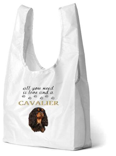 Cavalier King Charles Spaniel Dog Printed Eco-Friendly Foldbl Shopping Bag CAV-3
