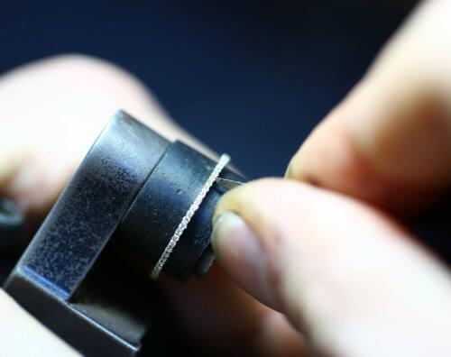Diamant Memory Ring 60 Brillanten 0,30 Carat in 585er 14 K Gold IGL Wert 1100€