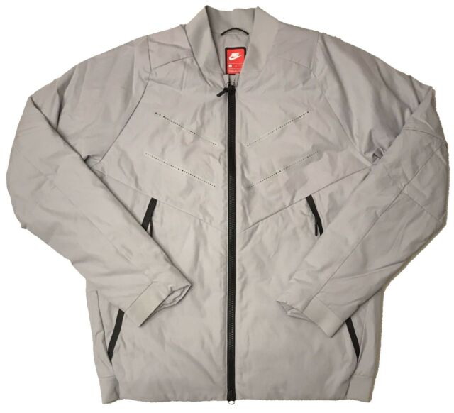 003b1933531f NIKE SPORTSWEAR TECH AEROLOFT BOMBER JACKET 863726-012 Light Grey (MEN S  MEDIUM)