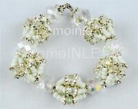 Ilde Obatala Ifa Orisha Bracelet Idde Mazo Santeria Glass Beads Free Shipping