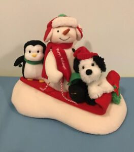 "2007 Hallmark Jingle Pals Animated Singing Snowman ""Sleigh Ride"" Christmas Plush"