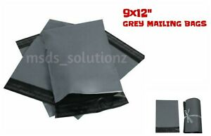 9-034-X-12-034-STRONG-GREY-MAILING-BAGS-POLYTHENE-PACKAGING-POSTAGE-POSTAL-MAILERS