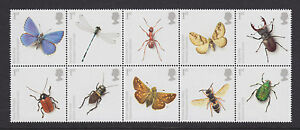 2008 INSECTS SET OF 10 ( BLOCK ) SG2831/2840 UNMOUNTED MINT