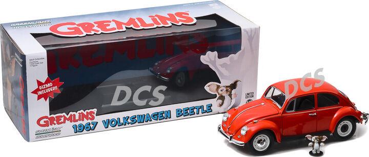 verdelight 1967 Volkswagen escarabajo rojo rojo rojo con Gizmo Figura 1 18 Diecast Car 12985 9f4492