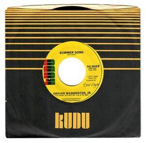 Details About Grover Washington Jr 1978 Kudu 45rpm Summer Song B W Juffure Clean