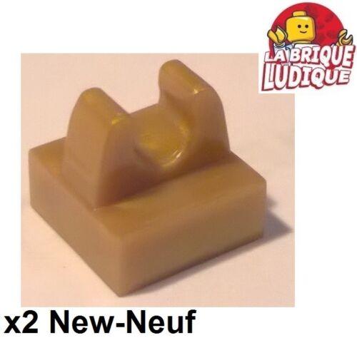 Lego LEGO Bau- & Konstruktionsspielzeug 2x Fliese geändert Platte clip Haken 1x1 or golden/pearl gold 2555 neu LEGO Bausteine & Bauzubehör