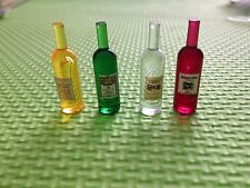 4 Miniature Whisky Wine Bottle Drink Dollhouse Miniature Pub Bar  accessory 1:12