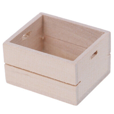 1:12 Dollhouse  Miniature Wooden Vegetable Fruits Basket Furniture Accessor llTE