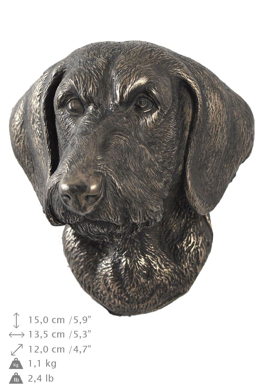 Dachshund wirehaired - dog figurine to hang on the wall, high quality, Art Dog