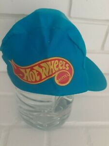 Hot-wheels-bicycle-cycling-hat-HO-RED-LINES-1980s-BMX-Promotion-Dealer-model