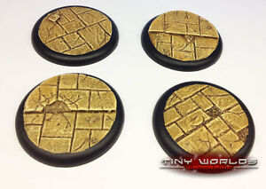 50mm Round Lipped Paved Dungeon Scenic Resin Bases Warmachine Hordes Malifaux ds