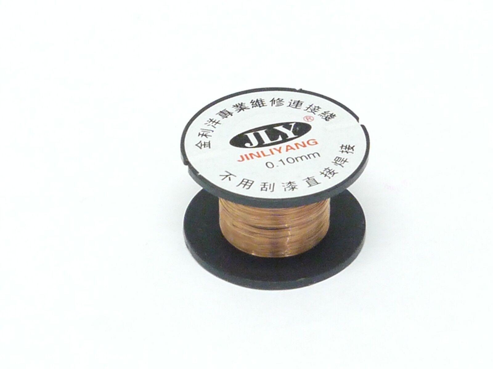 10X 0.10mm PCB Logic board solder soldering enameled copper wire Line Reel