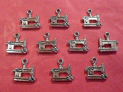 Tibetan Silver Sewing Machine Charms - 10 per pack