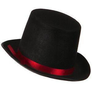 958fb1338a9 Adult Black Felt Tall TOP HAT coachman costume lincoln vampire ...