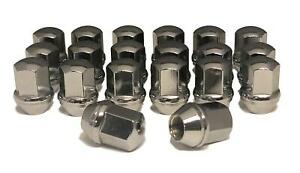 20-14x1-5-Chrome-Lug-Nuts-Chevy-Camaro-Dodge-Charger-Challenger-for-Stock-Wheels
