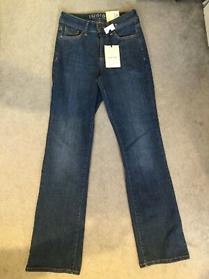 M/&S IndigoCollection Slim Boot Sits Below The Waist Stretch Denim Jeans 22 Short